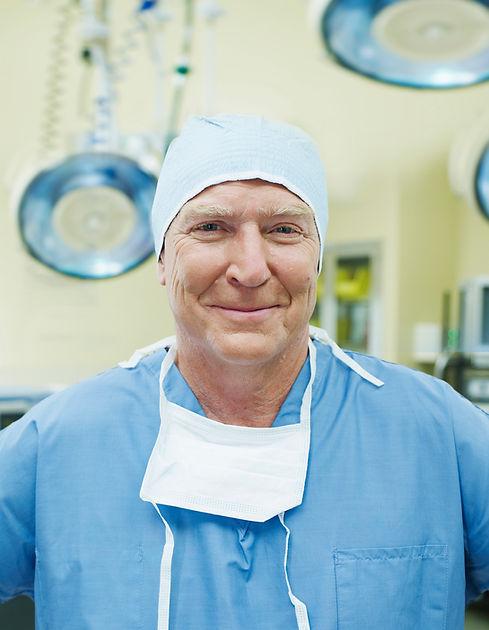 Cirurgião sorrindo