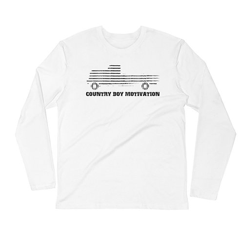 Big Logo Men's Long Sleeve Fitted Crew