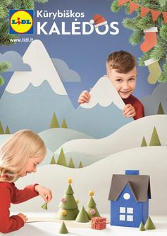 """Lidl kalėdinis katalogas """"Kūrybiškos kalėdos"""""""