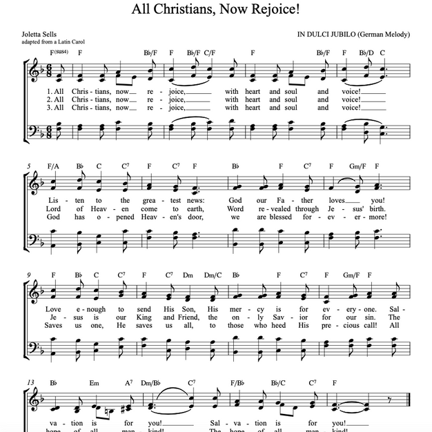 All Christians, Now Rejoice!