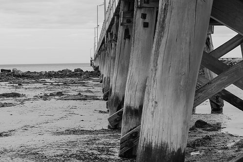 Moonta Bay Jetty B&W