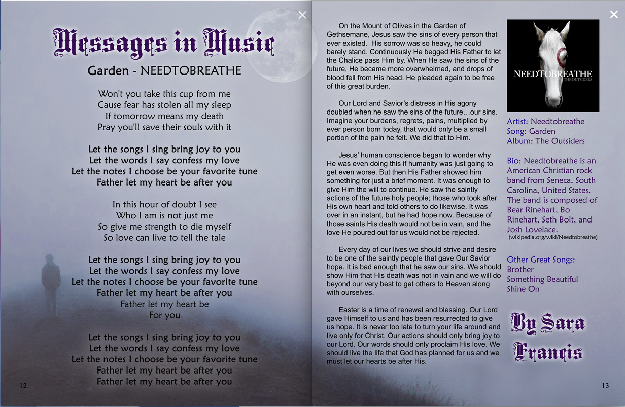 Messages in Music Article_Oct