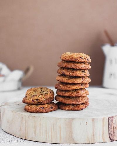 Cookies Arándanos, Chocolate y Naranja