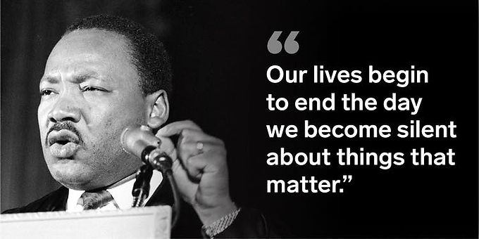 Thank you Dr. King