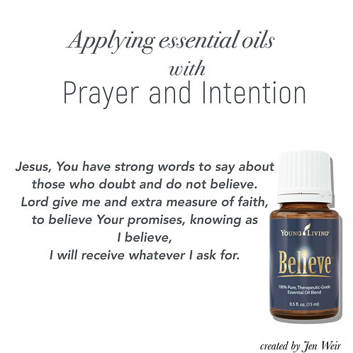 Prayer and Intention with Essential Oils
