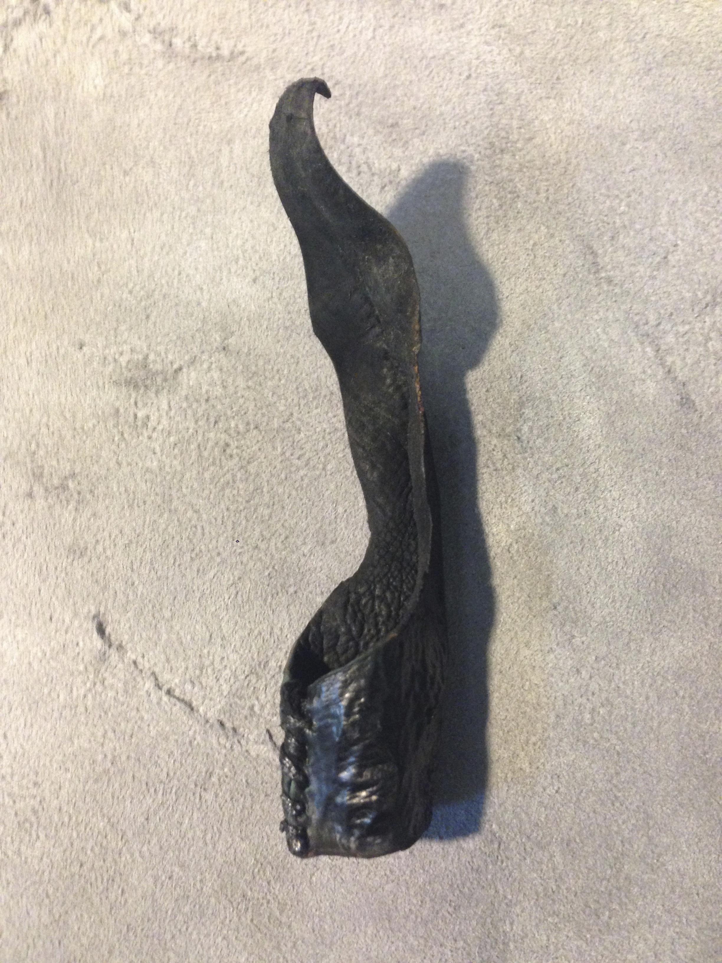 Burned Sea Eel Leather Ring