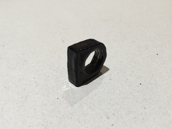 Burned Rubber-Filled Leather Ring
