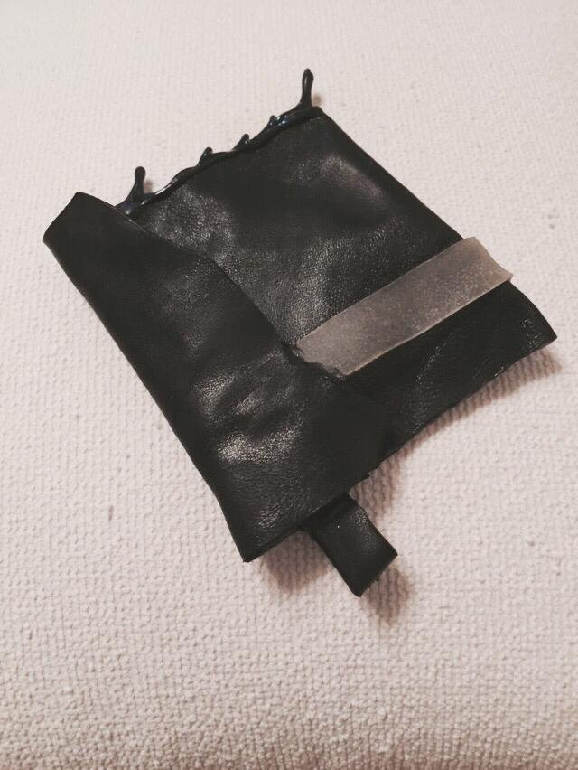Drip-rubber Leather Wallet