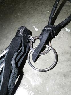 Burned Leather Tassels Keychain