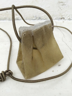 Leather Pouch Neck Lace