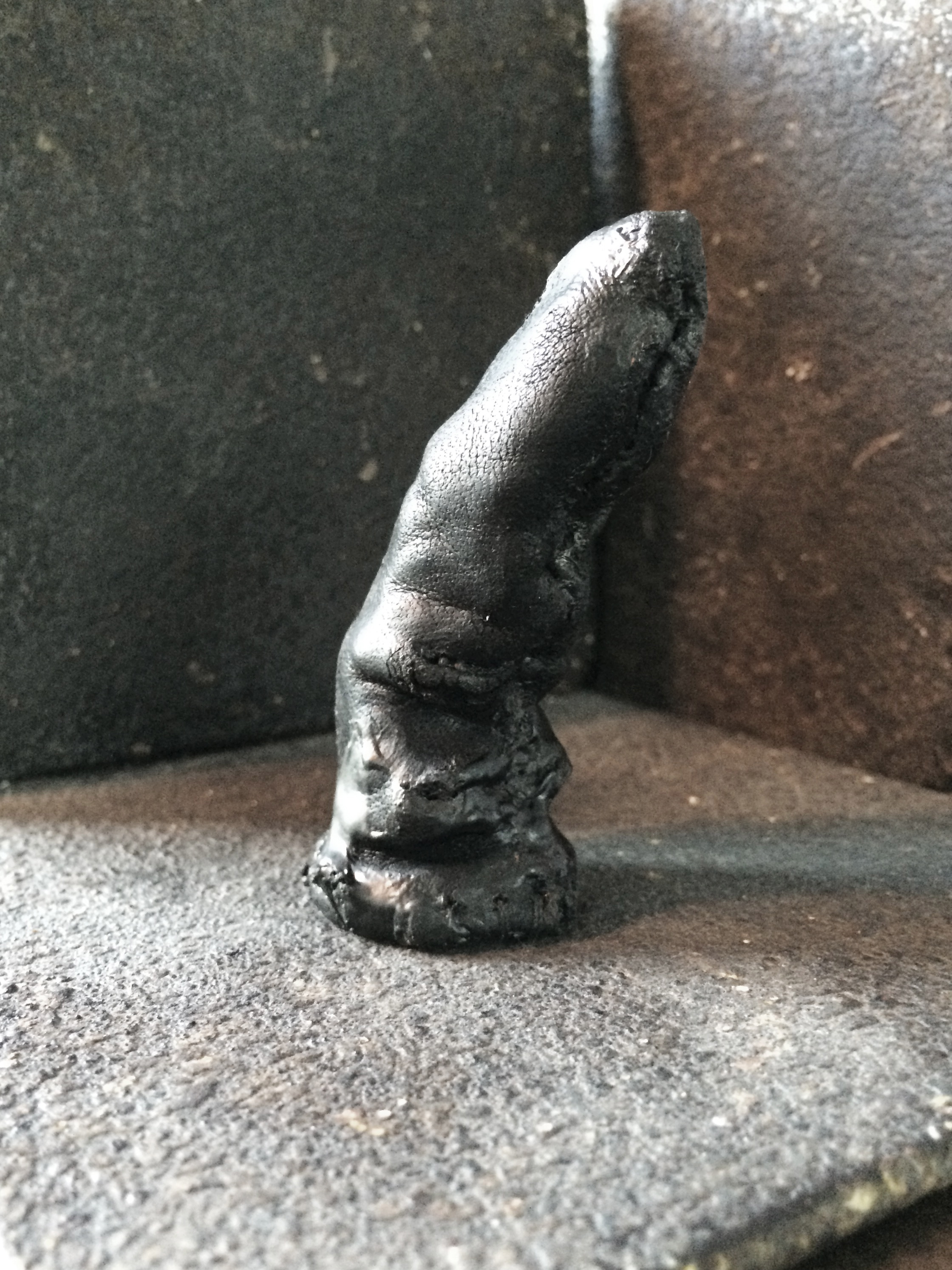 Burned Leather Finger Stall