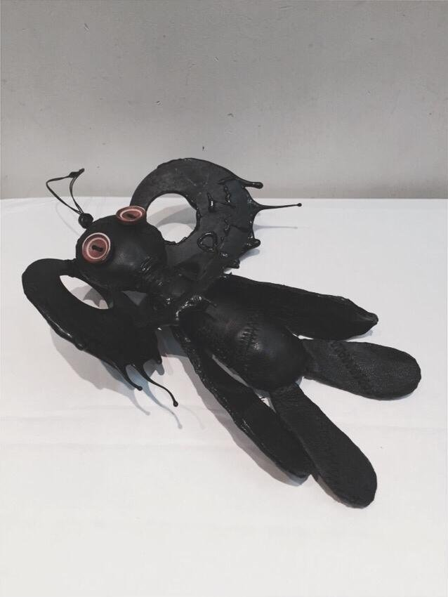 Drip-rubber Lamb Leather Doll