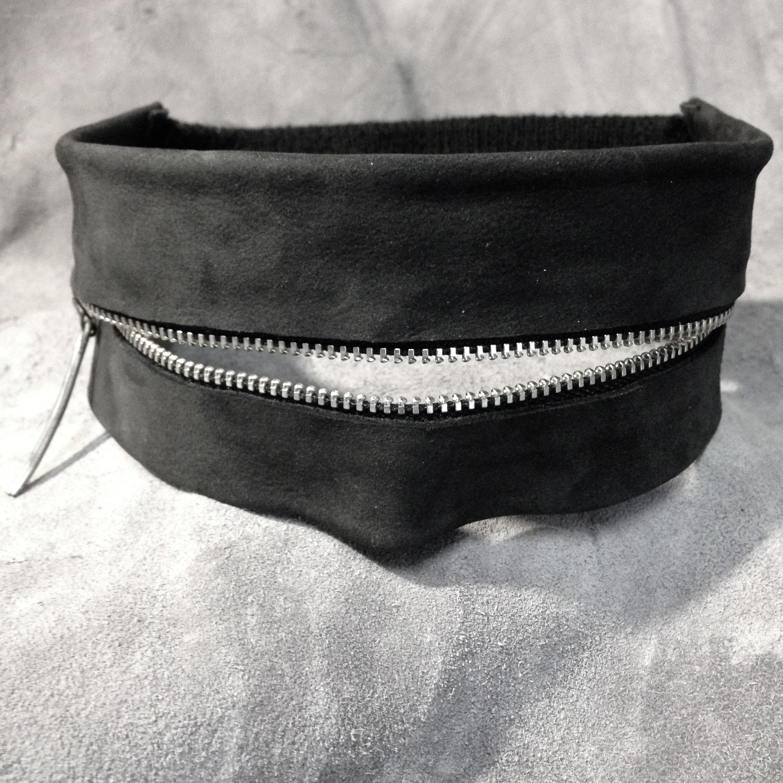 Leather Zip Mask