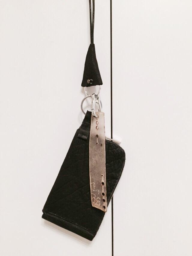 Leather Wallet Necklace