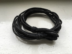 Burned Leather Ropes Bracelet