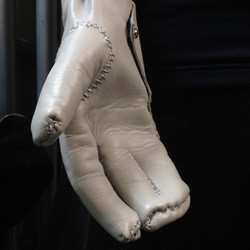 White Leather Gloves