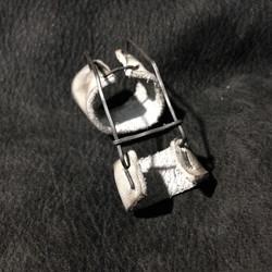 Burned Leather Prosthetic  Ring