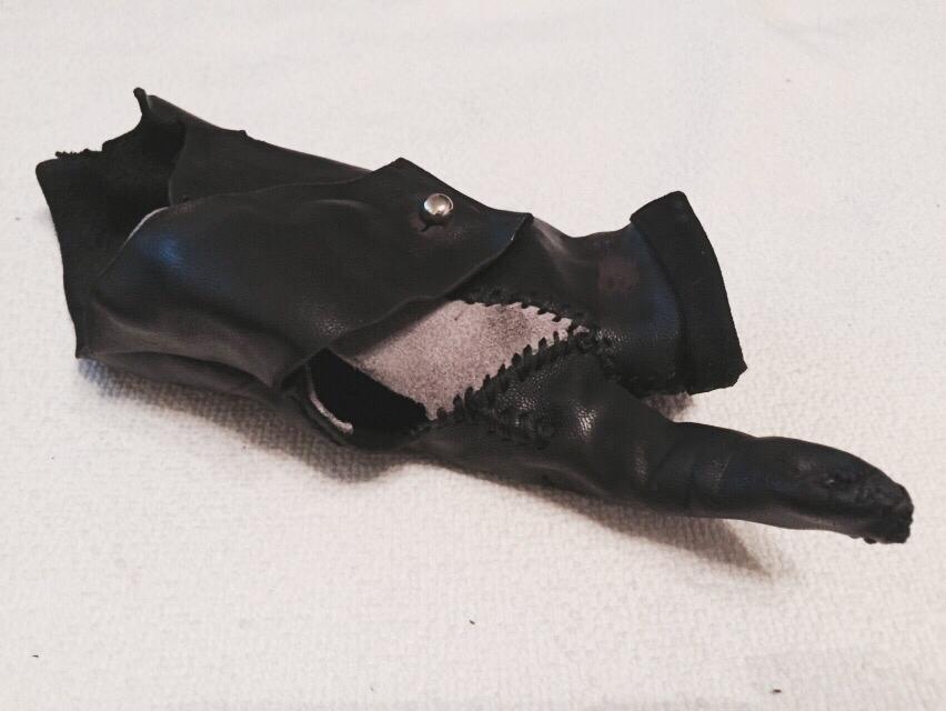 Burned Leather Glove
