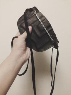 Burned Leather Clutch Bag
