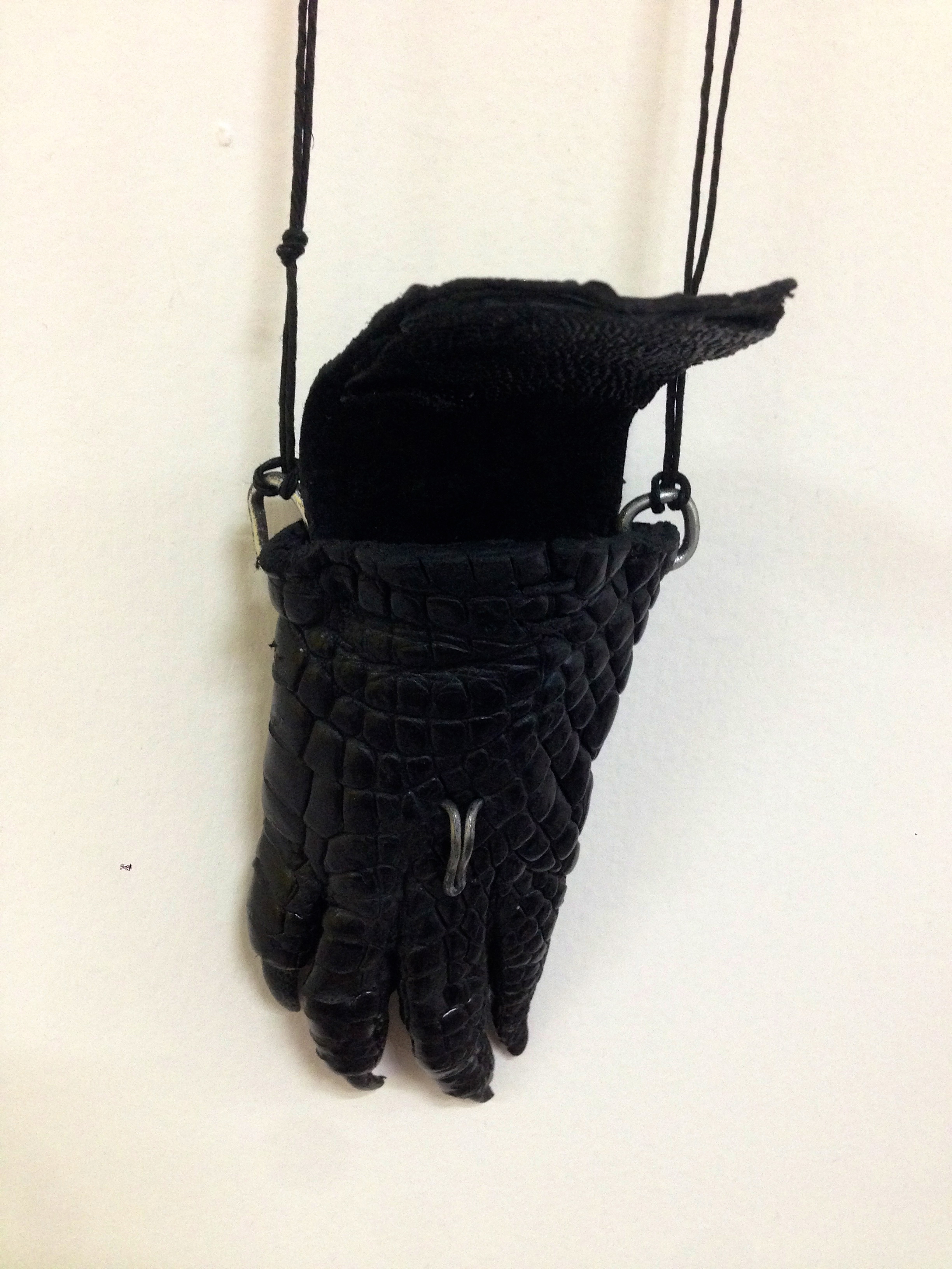 Alligator Leather Pouch Necklace