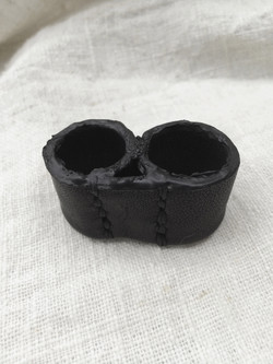 Burned Leather Twin-Rings