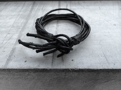 Burned Leather Bracelet