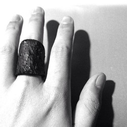 Drip-rubber Horse Leather Ring
