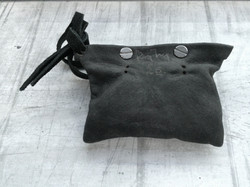 Washed Leather Pouch