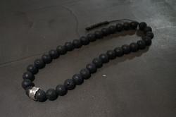 LAVA BEAD NECK LACE w/ 925 SILVER