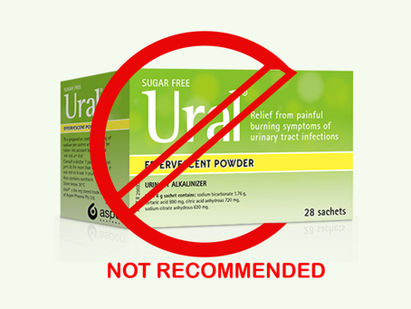 Clinical Experts DO NOT Recommend Urinary Alkalisers