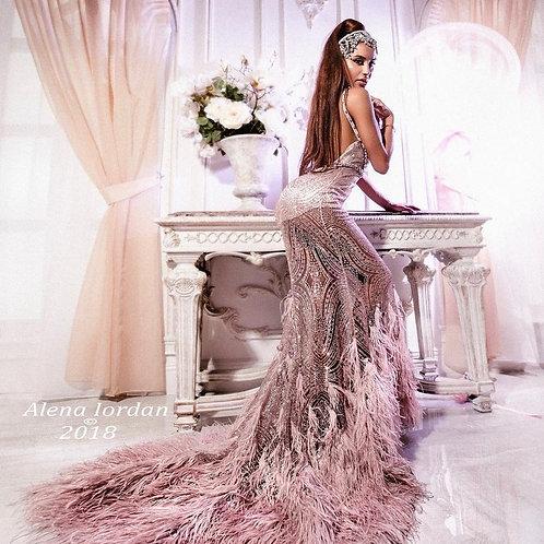 """Вечернее платье """"Фламинго"""""""