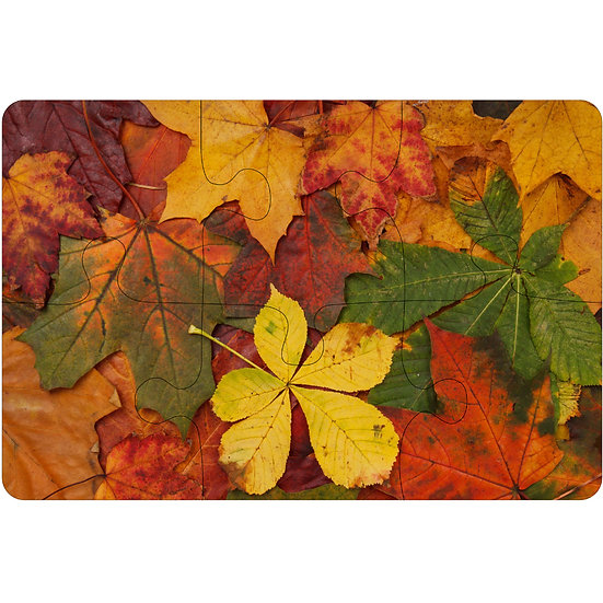 Autumn Leaves Jigsaw Drink Coasters