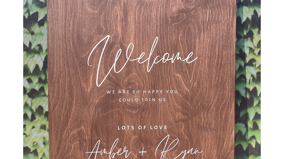 Personalised Wooden Signs
