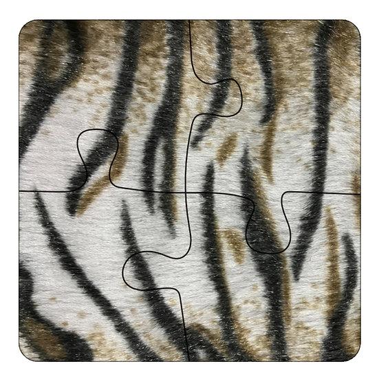 Tiger (4pc Jigsaw Drink Coasters)