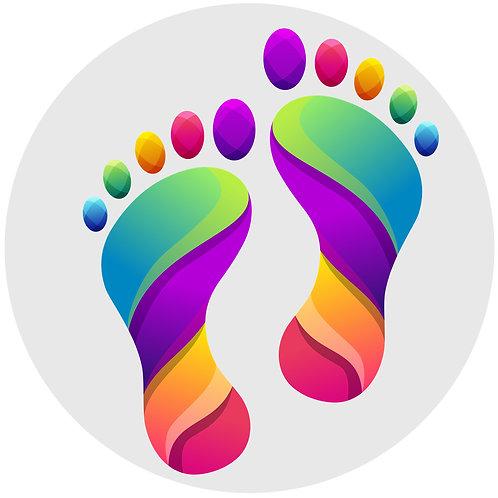 Rainbow Feet Floor Decals