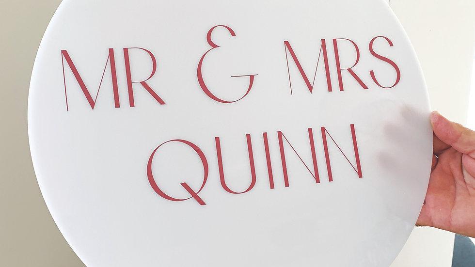 Personalised Acrylic Sign