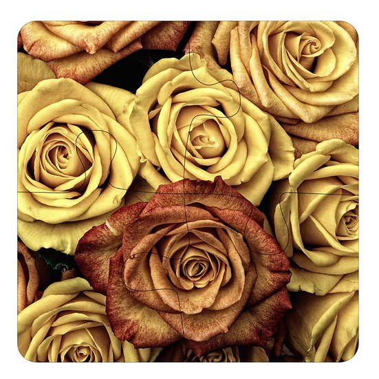 Roses (4pc Jigsaw Drink Coasters)