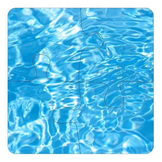 Cool Blue (4pc Jigsaw Drink Coasters)