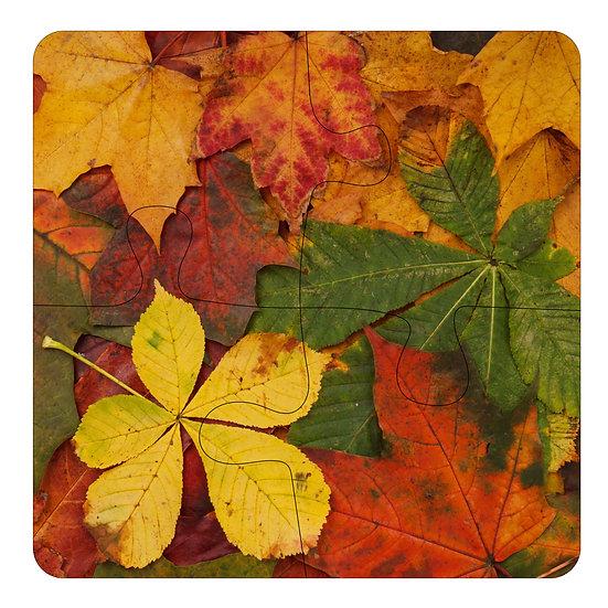 Autumn Leaves (4pc Jigsaw Drink Coasters)