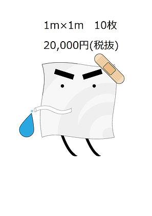 雨漏りうける君1m×1m 10枚セット(税抜)