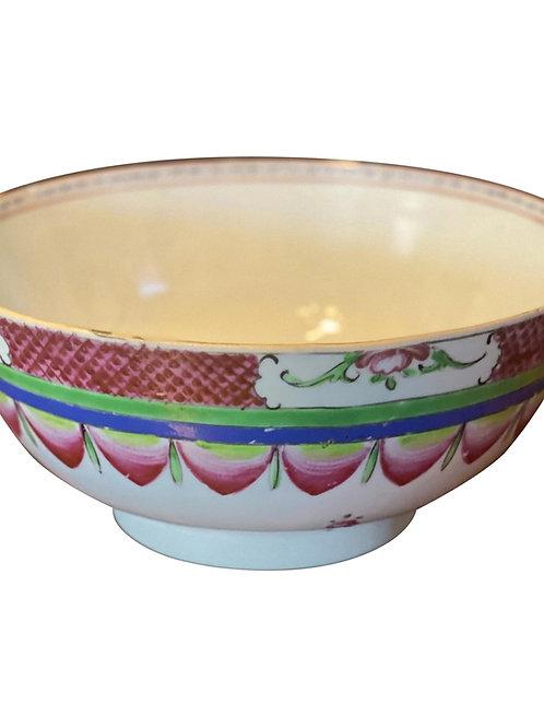 Early 19th Century Chinese Export Punch Bowl