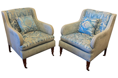Great Pair of Late 19th Century English Club Chairs