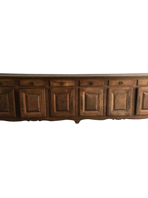 Large Scale 19th Century French 6 Door/ 6 Drawer Walnut Enfilade