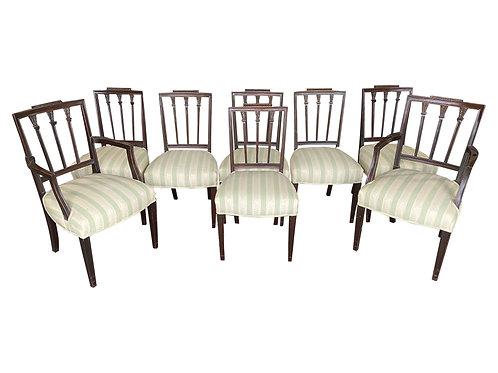 Set of 8 19th Century English Mahogany Dining Chairs