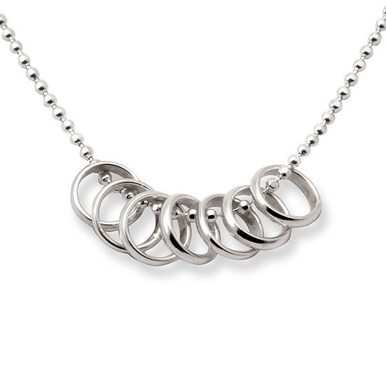 seven lucky rings necklace