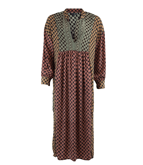 LUNA kaftan dress leaf
