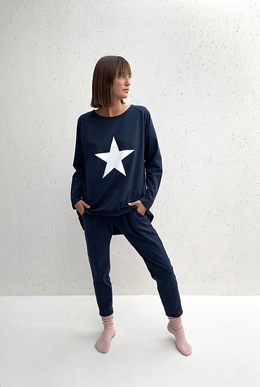 Robyn Top Navy White Star