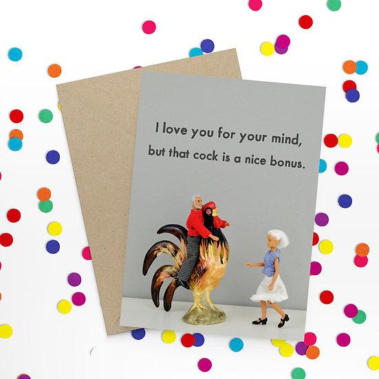 Bonus Cock Card Funny