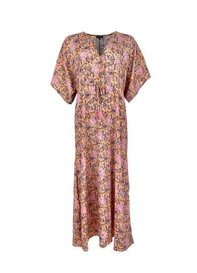 LUNA long V-neck dress