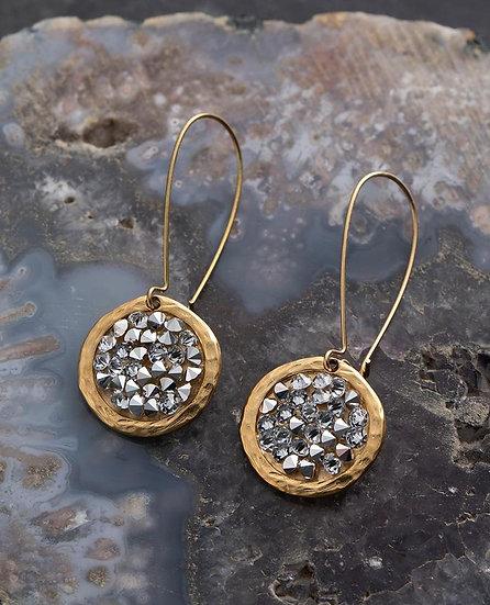 Rock Crystal Long Drop Earrings